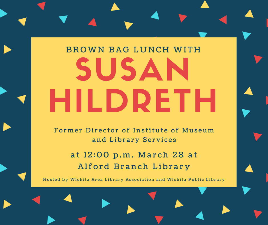 Susan Hildreth flyer for brown bag lunch event